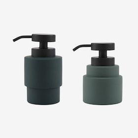 Shades Dispenser Set in Pine Green - Mette Ditmer