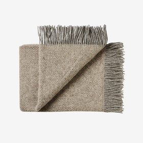 Fanø Wool Throw in Sand - Silkeborg Uldspinderi