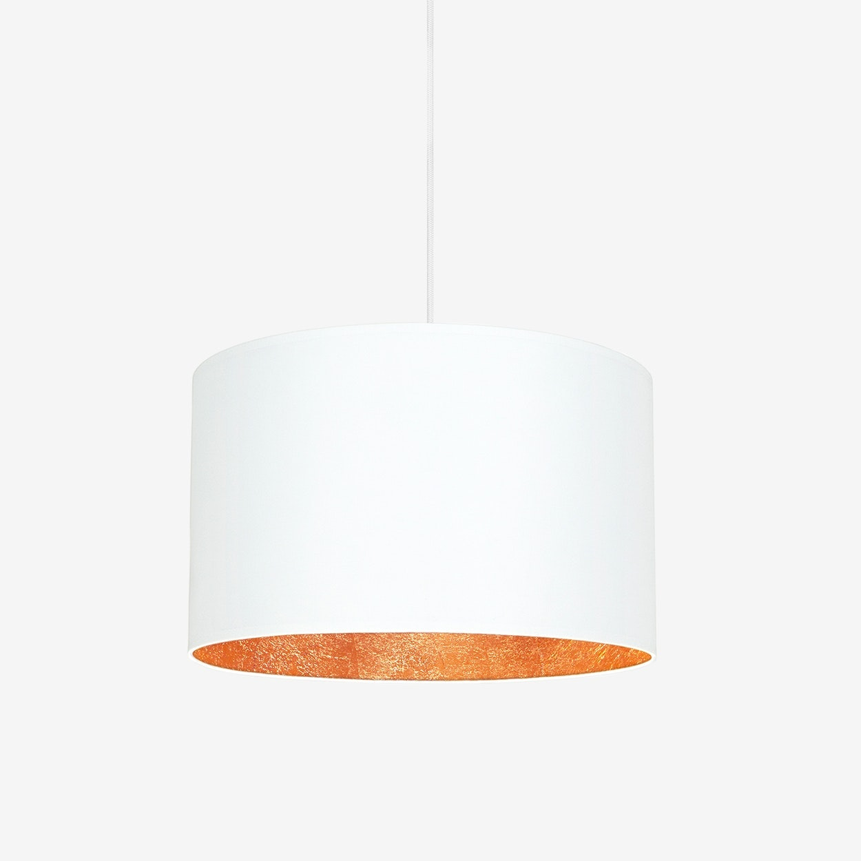 Mika Large Single Pendant Light In White With Copper Leaf Sotto Luce