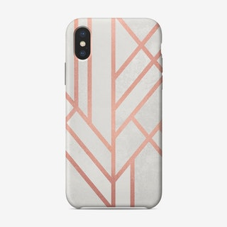 Art Deco Rose Gold iPhone Case - Elisabeth Fredriksson