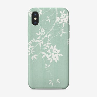 Foliage on Mint Green iPhone Case - Amini54