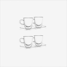 Amo Espresso Cup w/ Saucer (set of 4) - Vialli Design