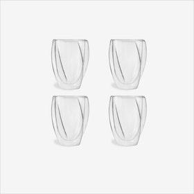 Cristallo Coffee Cup, 300mL (set of 4) - Vialli Design