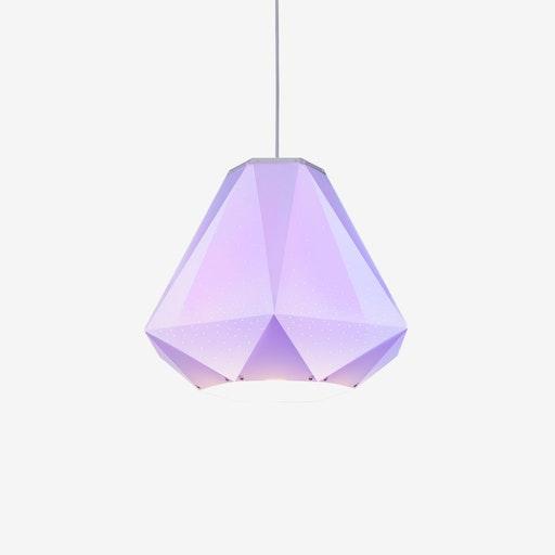 Diamond Pendant Light w/ CMYK Bulb - Studio Dennis Parren