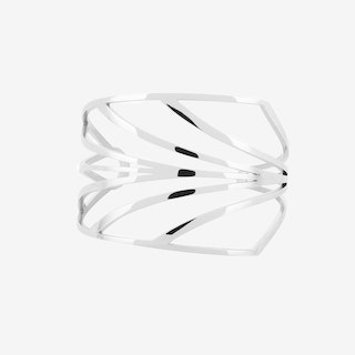 Chandelier Deco Cuff in Polished Stainless Steel - Esa Evans