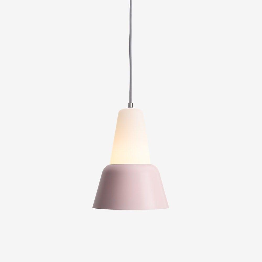 Modu L Pendant Light in Glass Pink Semi-Matte - TEO