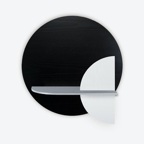 Alba M Circle Wall Shelf - Black/Grey/White