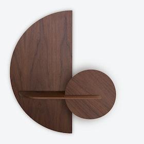Alba M Semi Circle Wall Shelf - Walnut