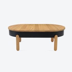 Batea L Coffee Table - Oak/Black