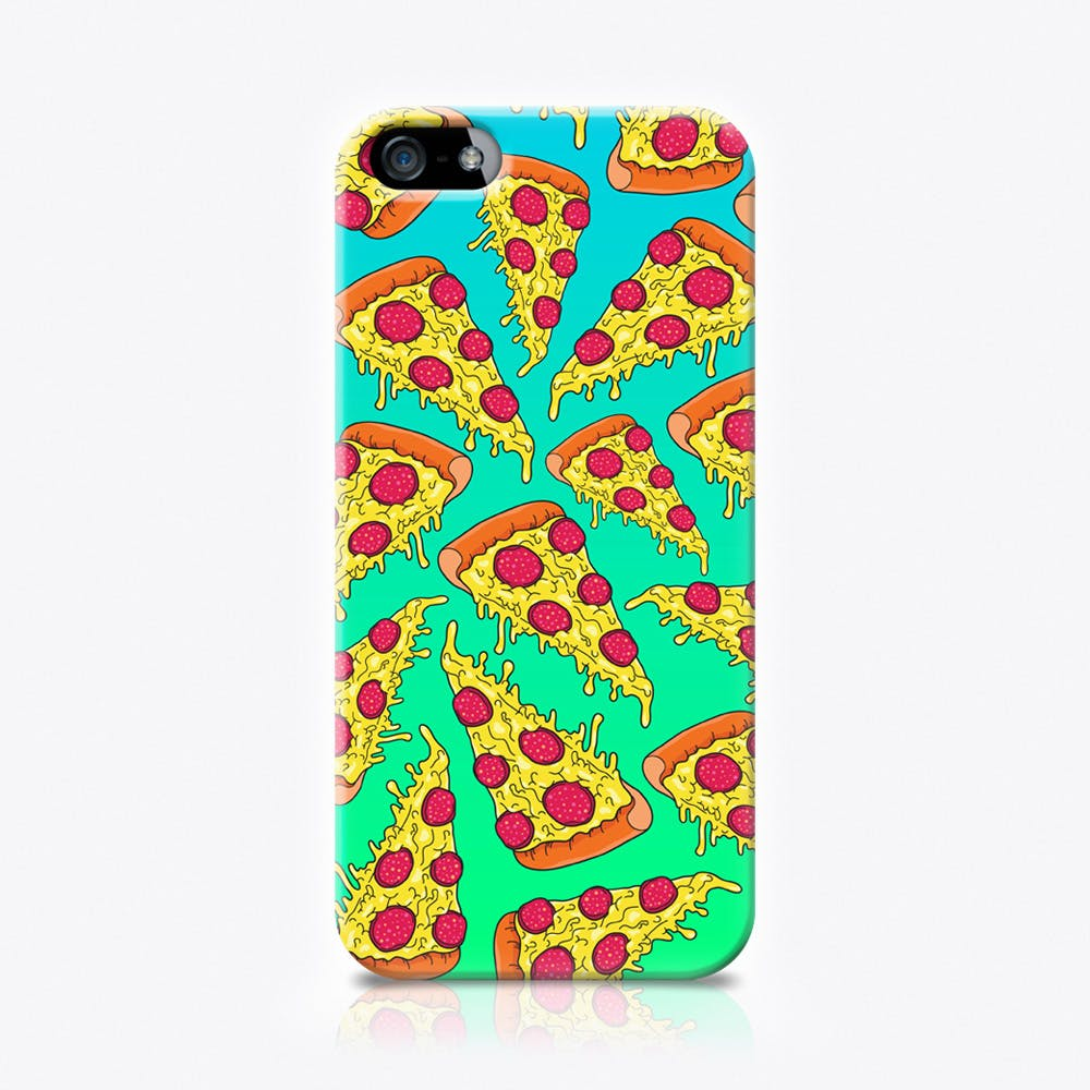 Pizza in Blue Phone Case