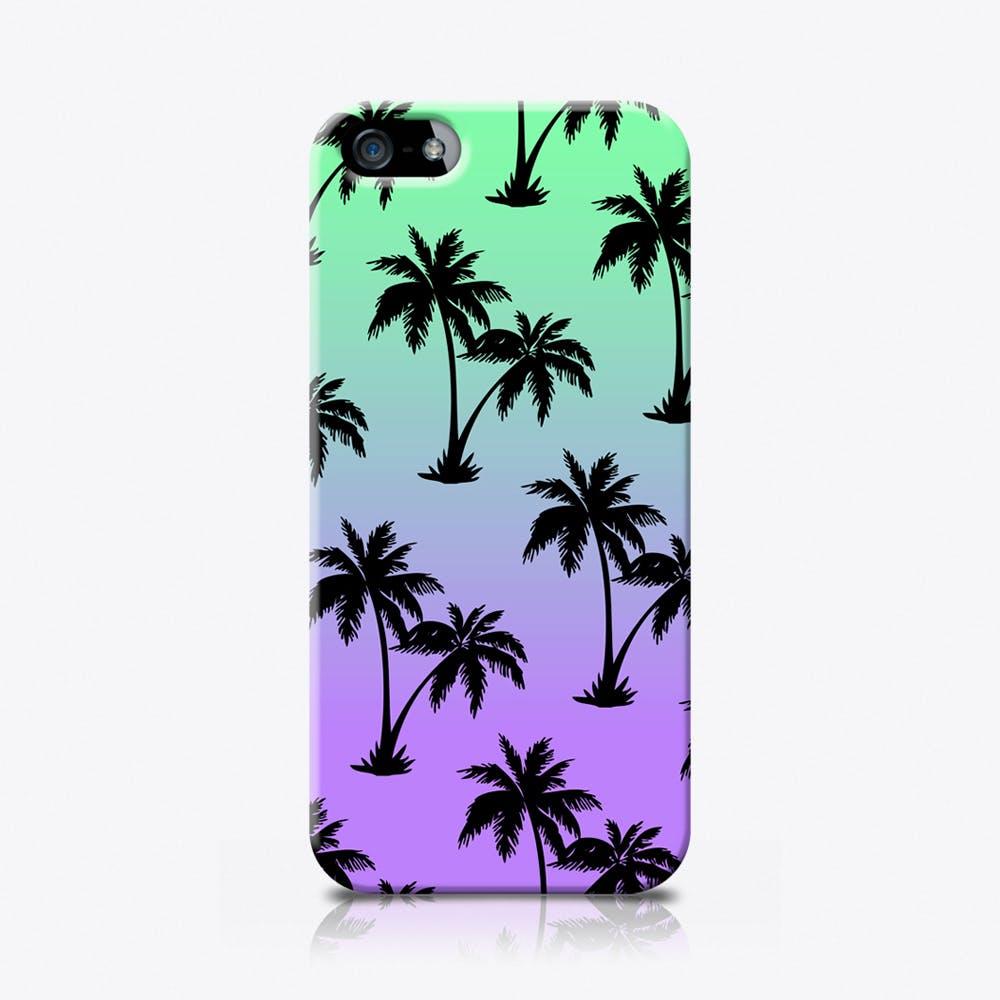 Palms in Blue Phone Case