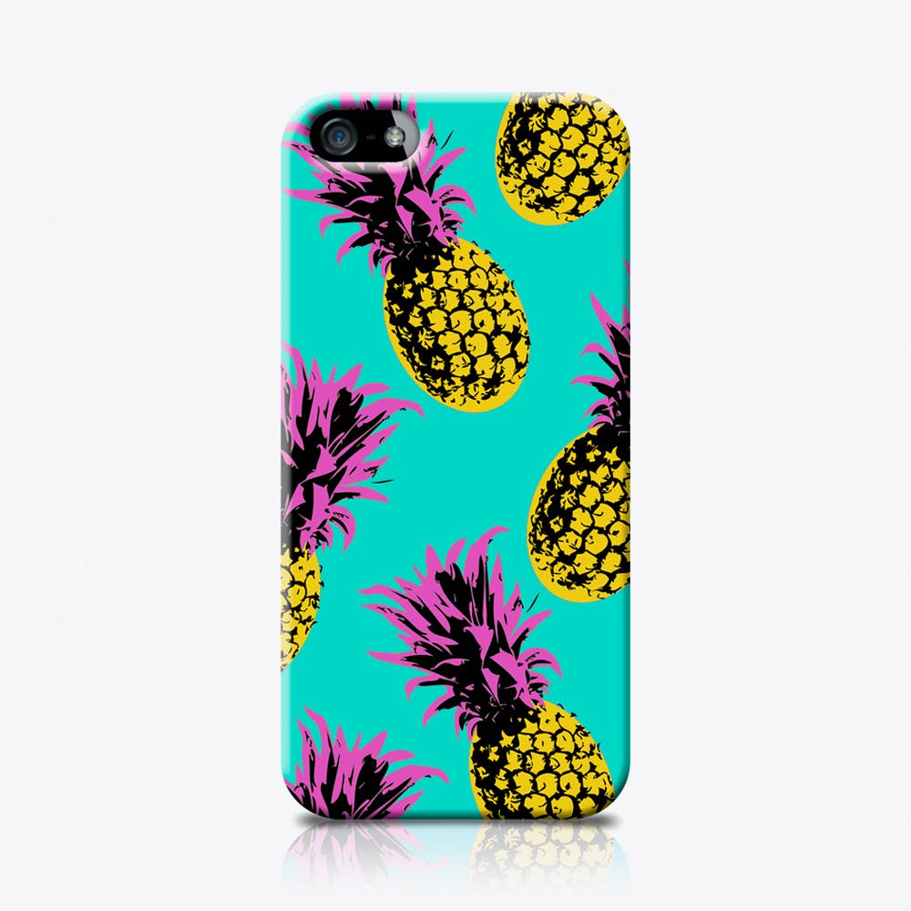 Pineapples in Turquoise Phone Case
