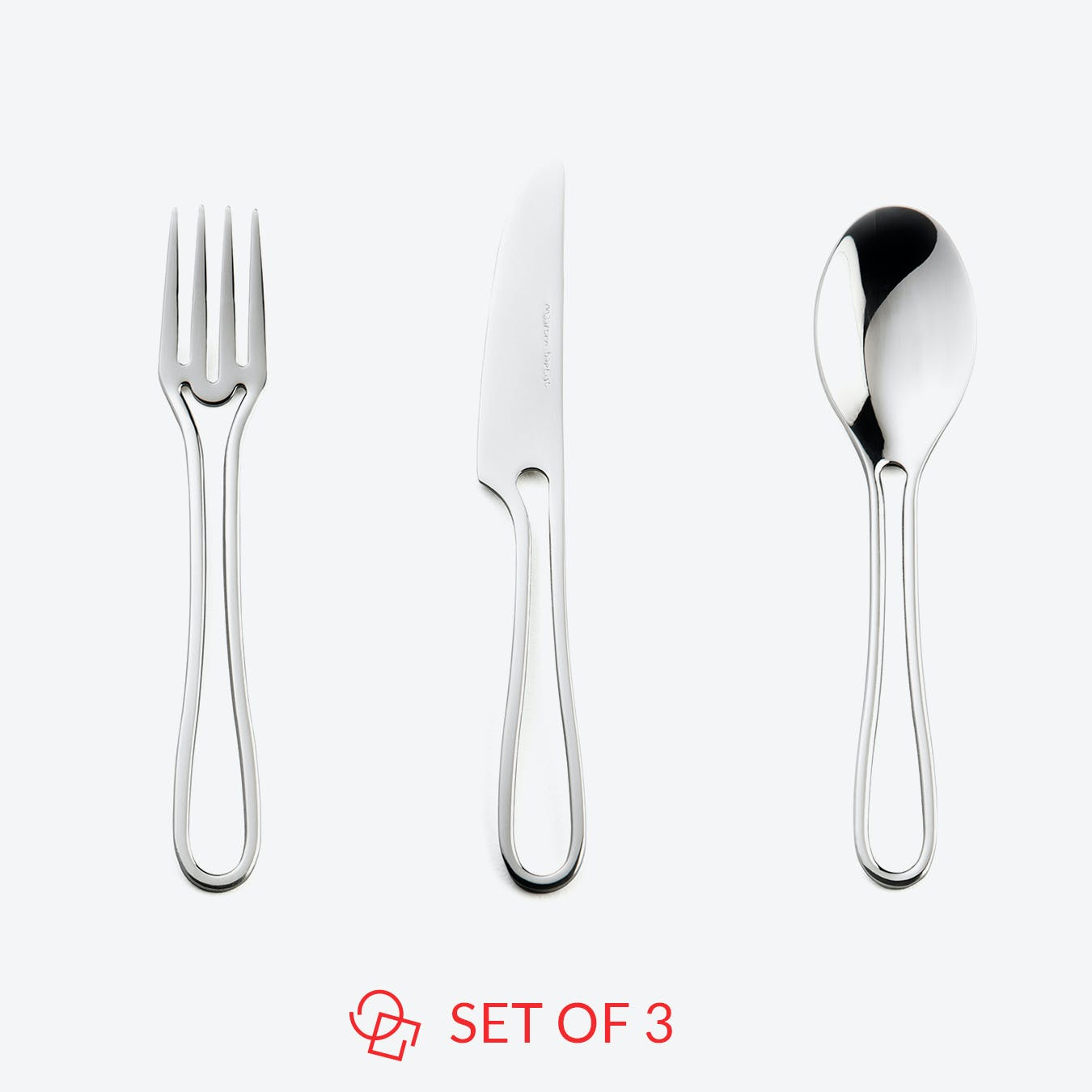 Glossy 'Outline' Kids Cutlery (set of 3)