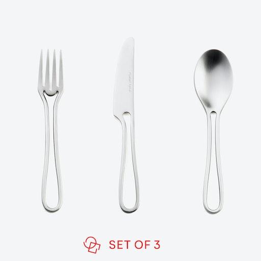 Matte 'Outline' Kids Cutlery (set of 3)