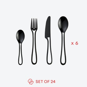 Black 'Outline' Table Cutlery (set of 24)