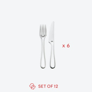 Glossy 'Outline' Pastry Cutlery (set of 12)