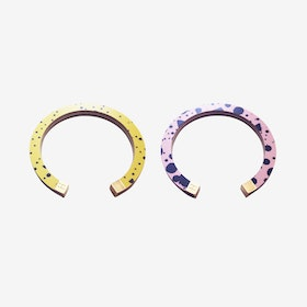 Lunar Bangle - Yellow Lunar Storm / Pink Black Confetti