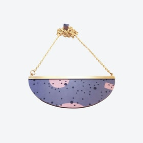 Lunar Necklace - Grey Pink Confetti