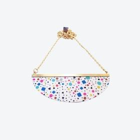 Lunar Necklace - White Tutti Frutti
