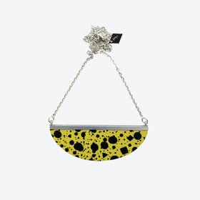 Lunar Necklace - Yellow Black Confetti