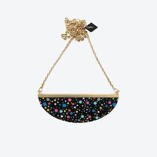Lunar Necklace - Black Tutti Frutti