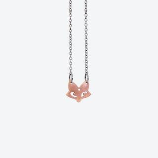 Small Copper Fox Necklace