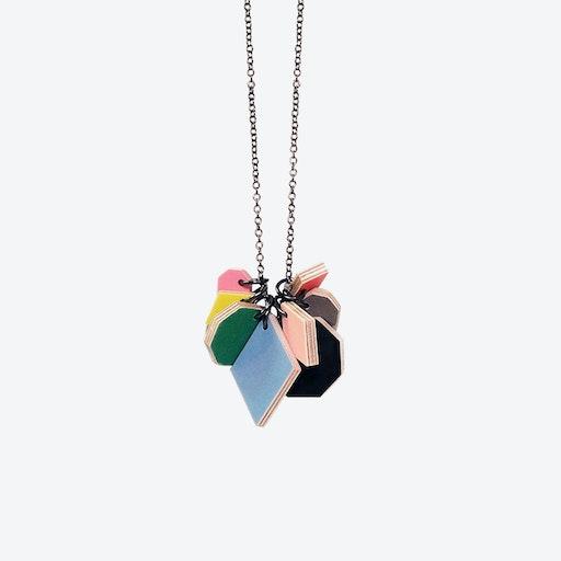 Polygon Spectrum Necklace - Black