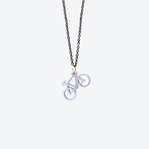 Bicycle Aluminum Necklace
