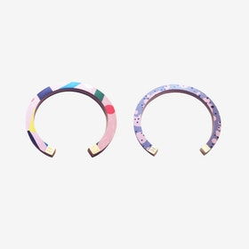 Lunar Bangle - Pink Pizza / Pink Grey Confetti