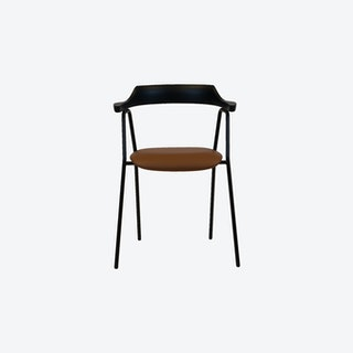 4455 Chair in Black w/ Leather Seat