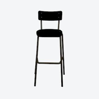 Suzie 75cm High Chair w/ Black Legs - Black