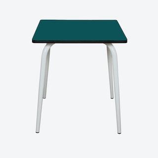 Vera Table w/ White Legs - Blue Duck