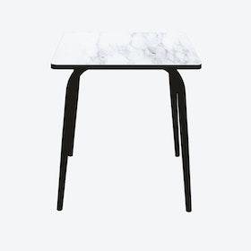 Vera Table w/ Black Legs - Marble