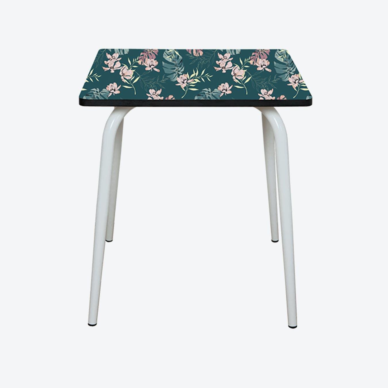 Vera Table w/ White Legs - Tropics