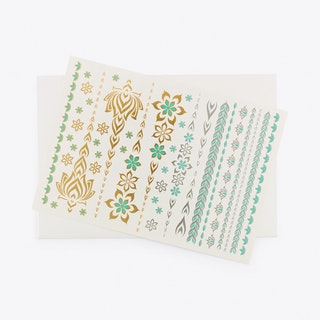 Lotus Verde Temporary Tattoos