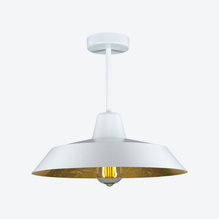 Cinco Ceiling Lamp - White w/ Imitation Gold Leaves