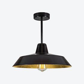 Cinco Ceiling Lamp - Black w/ Imitation Gold Leaves