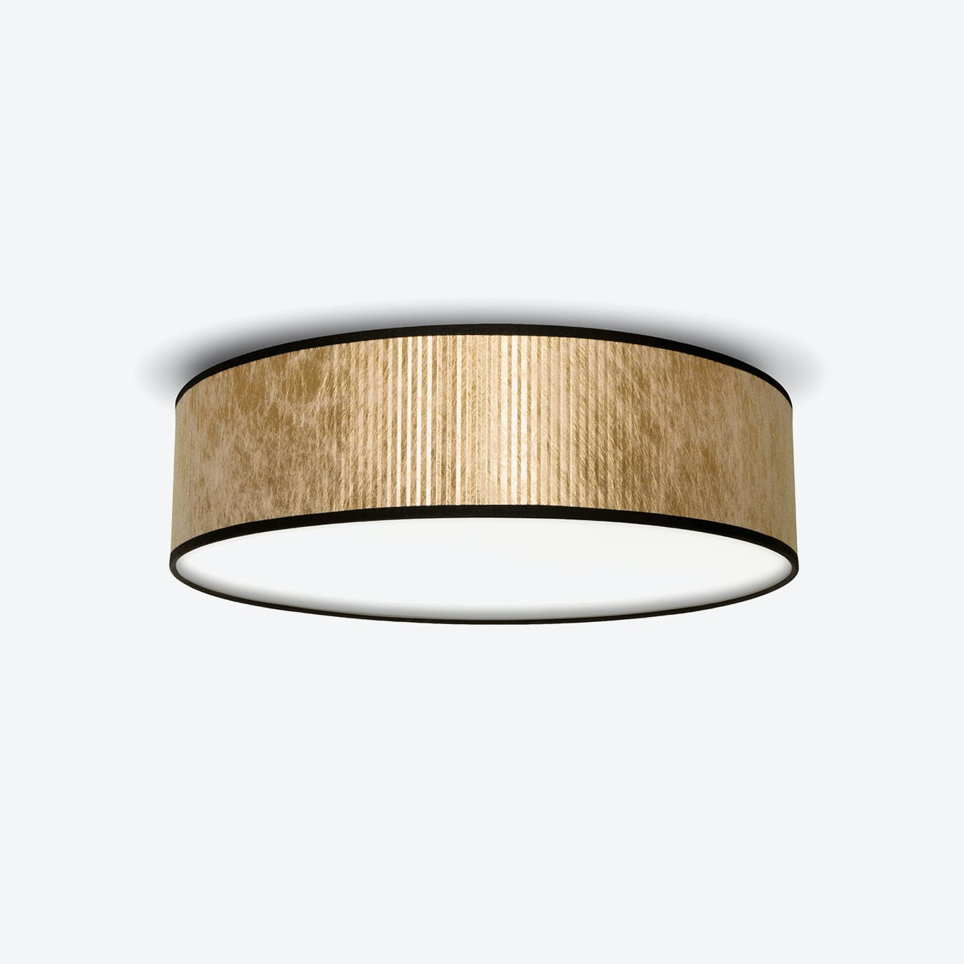 Tres Plisado Ceiling Lamp - Gold