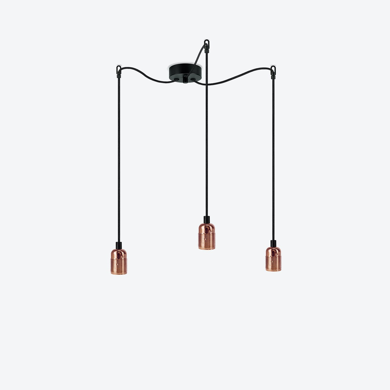 Uno 3 Pendant Light - Glossy Copper/Black Nut