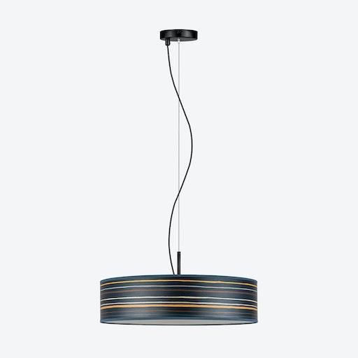 Ocho Slim Pendant Light - Blue Stripes