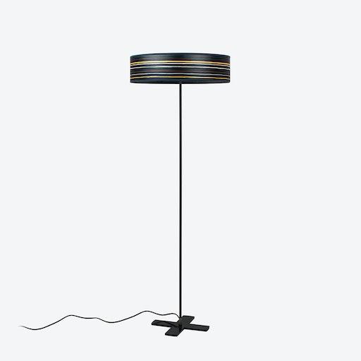 Ocho Slim Floor Lamp - Blue Stripes