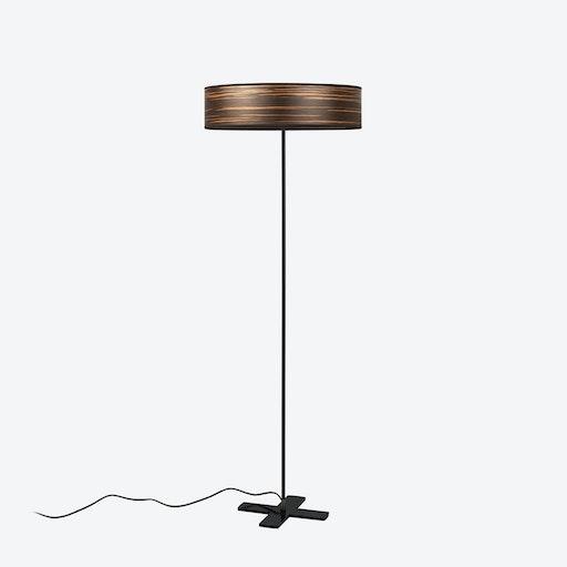 Ocho Slim Floor Lamp - Brown Strips
