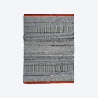 Triptik Black and Red Rug