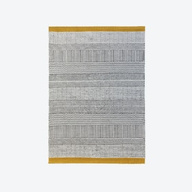 Triptik Grey and Mustard Rug