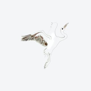 Stork Brooch
