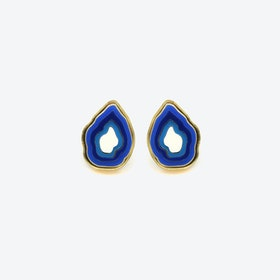 Agate Earrings in Blue