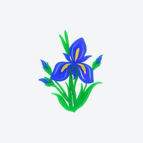 Iris Flower Brooch