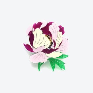 Peony Flower Brooch