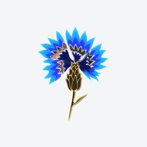 Cornflower Flower Brooch