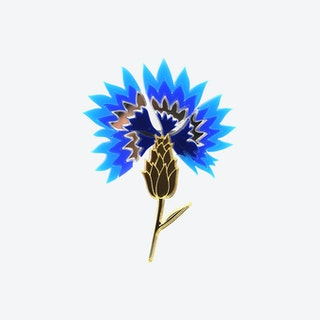 Cornflower Flower Brooch